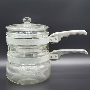 Vintage Glass Double Boiler Pans Pan Cookware